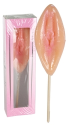 Ovocné lízátko Sexy mušlička chut jahody