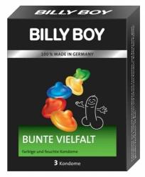 Kondomy - BILLY BOY barevné Balení: 3ks