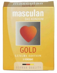 Masculan Gold - zlatavé kondomy (3ks)
