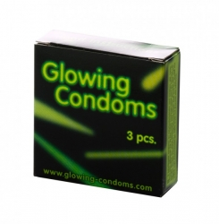 Glowing Condoms 3 St. - Svítící kondomy 3ks
