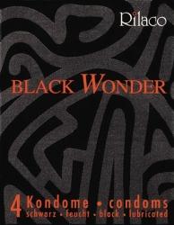 RILACO Black Wonder 4 St - černé kondomy 4ks.