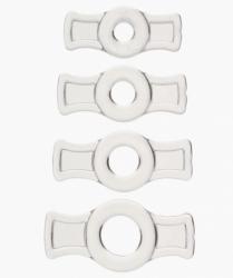 Titanmen Cock ring set - sada čtyř transparentních erekčních kroužků