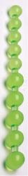 Jumbo Jelly - zelené gelové anální korálky - 27 cm