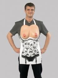 Busen-Schürze - kuchyňská zástěra s vystouplými prsy