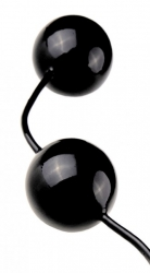 FANTASY Pleasure Love Balls - Venušiny kuličky z latexu černé