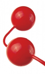 FANTASY Pleasure Love Balls - Venušiny kuličky z latexu červené