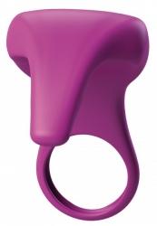 BeauMents Joyride - Erekční kroužek se stimulátorem klitorisu (fialový)