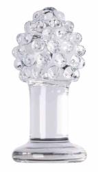 Glassvibrations Fire cone clear - skleněný anální kolíček