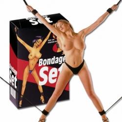 Bondage set - oddělená pouta na nohy a ruce (pranýř)