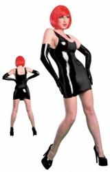 Latexové mini šaty - černé (Velikosti S - XL) Velikost S