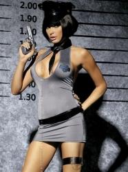 Kostým Obsessive Police dress 3v1 (velikost S/M, L/XL) velikost S/M