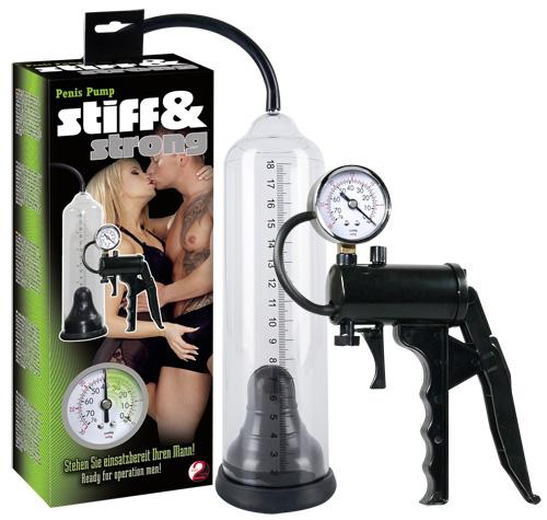 Stiff & Strong - Výkonná vakuová pumpa s ukazatelem tlaku