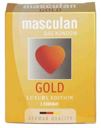 Masculan Gold - zlatavé kondomy (3ks)