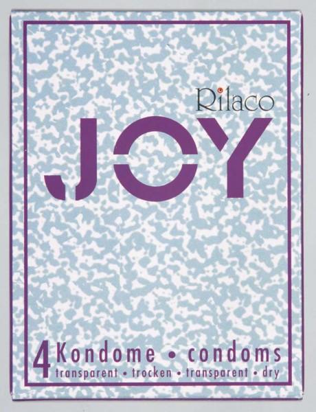 RILACO Joy 4ks - suché (nelubrikované) kondomy