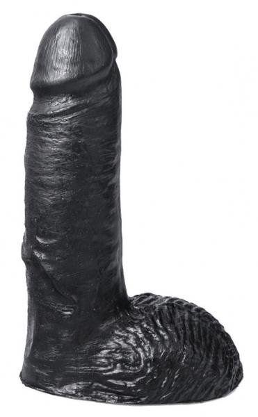 HUNG SYSTEM Marcel black - Dildo s žaludem a varlaty