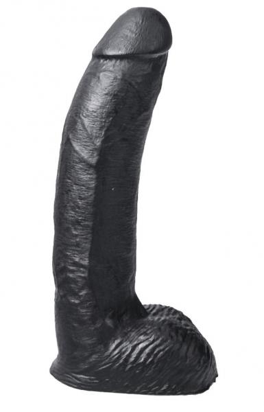 HUNG SYSTEM George black - dildo s žaludem a varlaty