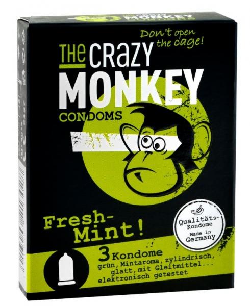 THE CRAZY MONKEY Condoms Fresh-Mint ks 3