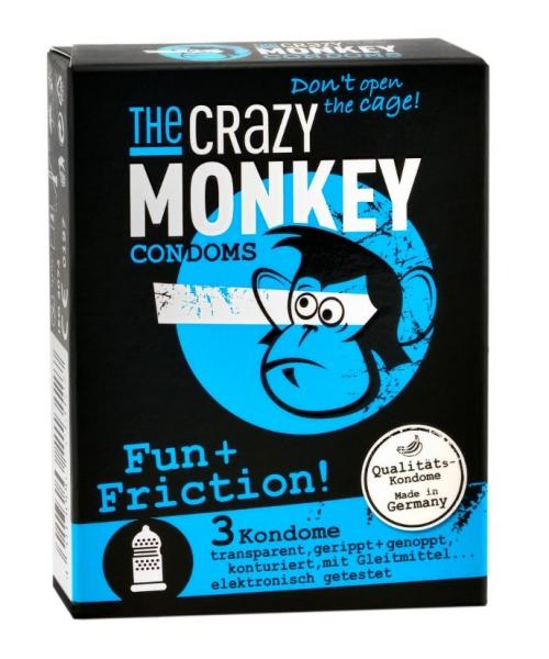 THE CRAZY MONKEY Fun + Friction - s vroubky a nopky ks 3