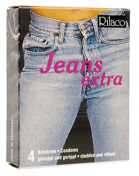 RILACO Jeans - dráždivé kondomy 4ks