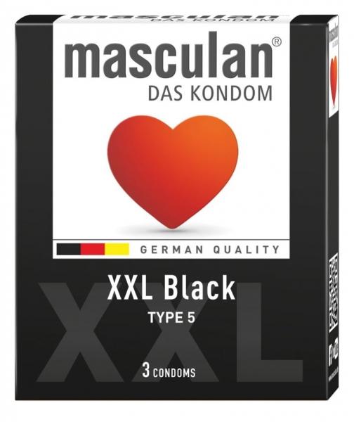 Masculan XXL black - černé XXL kondomy 3ks