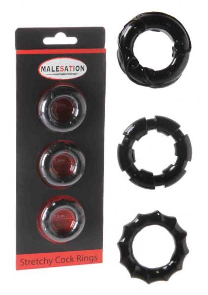 Malesation - sada tři erekčních kroužků